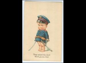 Y2611/ Kind in Uniform Smile Messenbergs AK Comic 1920
