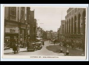 N8260/ Wolverhampton Victoria St. Autos Foto AK ca.1935