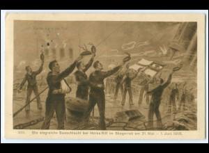 Y2558/ Siegreiche Seeschlacht bei Horns Riff Skagerrak 1916 WK1 AK