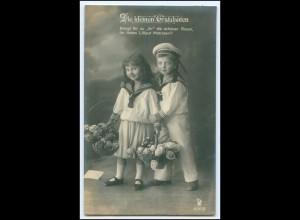 Y2617/ Kinder in Matrosen-Uniform schöne Foto AK 1918