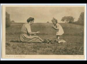 Y2553/ Mutti`s Liebling! Mädchen Dt. Verein für Säuglingsfürsorge AK 1918