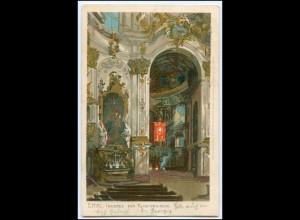 N8620/ Zeno-Diemer Litho AK Ettal Klosterkriche 1900