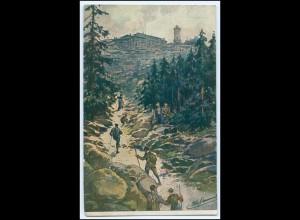 N8257-388./ Brocken Wanderer Künstler AK 1915