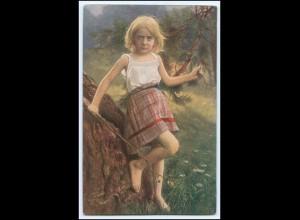 Y2627/ Mädche im Wald Künstler AK Primus-Postkarte 1918