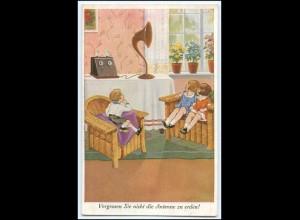N9104/ Kinder hören Radio AK ca.1930