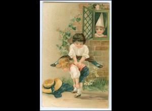 Y2565/ Kinder spielen schöne Litho AK 1909