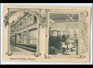 N8454-2250/ Husum Kösters Kaffee AK 1918