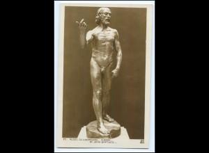 Y3994/ Skulptur A. Rodon - St. Jean Baptiste, Museum Luxemburg Foto AK ca.1920