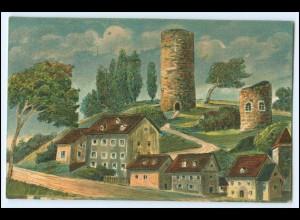 N8353-073./ Bad Lobenstein Burgruine Litho AK ca.1912