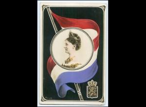 N8512/ Königin Wilhelmina schöne AK Niederlande