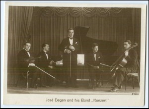 "N9124/ Jose Degen and his Band ""Konzert"" Musikkapelle Foto ca.1935 AK"