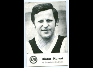 Y2729/ Dieter Kurrat Autogramm Borussia Dortmund BVB