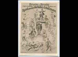N8871/ Brucks u. Brucks Fahrrad-Act Akrobaten Variete Zirkus AK ca.1930