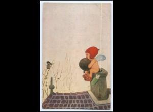 Y2704/ Der frierende Amor Künstler AK Verlag Paul Heckscher ca.1915