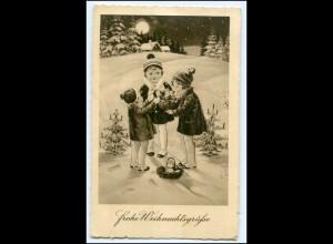 Y2721/ Weihnachten Kinder schöne AK ca.1935