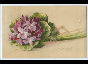 N9070/ C. Klein Blumen Veilchen schöne Litho AK 1917