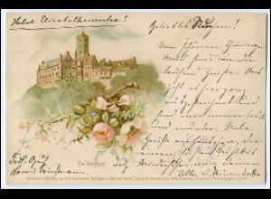 N8935-998./ Die Wartburg bei Eisenach Litho AK 1895