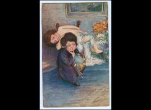 N9002/ Bertiglia Künstler AK Kinder ca. 1920