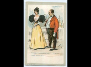 Y3023/ Les Asperges Man und Frau französ. Künstler Litho AK ca.1900