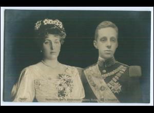 N9038/ Prinzessin Ena v. Battenberg + König Alfons v. Spanien Foto AK