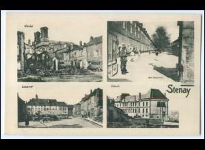 Y2854/ Stenay Meuse Lothringen 1. Weltkrieg AK Frankreich France ca.1914