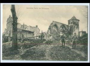 Y2853/ Perriere Ferm bei Soissons 1. Weltkrieg AK Frankreich France ca.1914