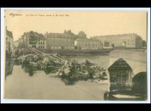 Y2866/ Mezieres Le Pont de Pierre 1. Weltkrieg AK Frankreich France 1914