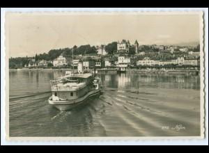 T140/ Nyon Dampfer Foto AK 1946 Waadt