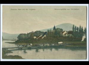Y2926/ Zwischen Metz u.d. Vogesen 1. Weltkrieg AK 1914