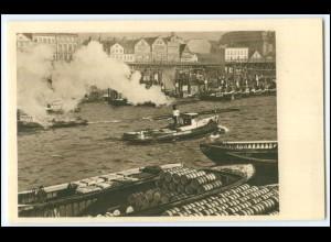 Y2923/ Hamburg Schlepper im Hafen ca.1940 AK