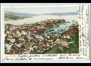 N9361/ Bergen Norwegen AK 1902