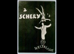 N9330/ 2 Schery`s Einrad-Artisten Foto AK ca.1955