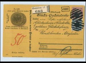 Y3051/ Glücks-Postkarte Geld Münzen AK ca.1900