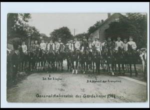 Y3617/ Frankenhausen Generalstabsreise des Gardekorps 1907 Foto AK Kronprinz