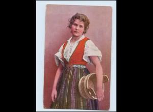 Y3067/ Junge Frau, Trachten Norwegen Norge AK 1912