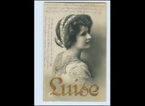 """N9682/ Namen Foto AK """"Luise"""" Golddruck 1913"""