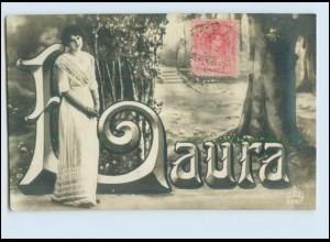 "N9672/ Namen Foto AK ""Laura"" Fotomontage ca.1910"