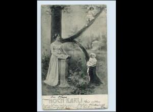"""N9671/ Buchstaben """"K"""" Namen AK Karl 1903"""