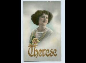 "N9668/ Namen AK ""Therese"" Golddruck ca.1912"