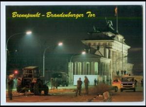 Y3573/ Berlin Brandenburger Mauer Grenze wird abgebaut AK ca.1990