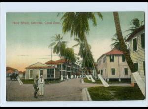 N9809/ Cristobal Third Street Canal Zone Panama AK ca.1912