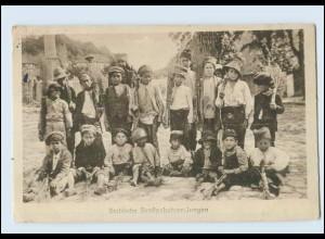 N9754/ Serbische Straßenkehrer-Jungen Serbien AK 1917