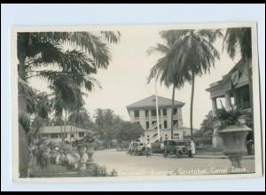 N9843/ Cristobal Canal Zone Roosevelt Avenue Foto AK Panama ca.1935