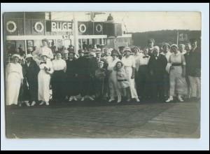 Y3173/ Klappkarte große Frau, Männer Litho AK ca.1912 Humor