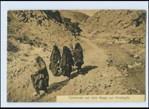 N9876/ Türkinnen auf dem Wege zur Kindtaufe, Burka Türkei AK 1917