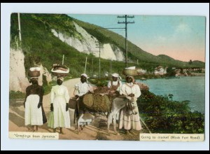 T076/ Jamaica Going to market Rock Ford Road AK ca.1912
