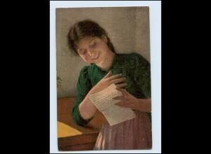 """Y3101/ Erpaco Gemälde AK """"Ein Liebesbrief"""" C. v. Bergen ca.1915"""