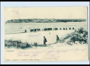 N9913/ Helgoland Düne AK 1906