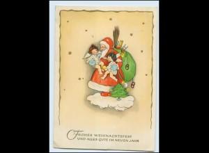 Y3103/ Weihnachten Weihnachtsmann Engel schöne AK 1952