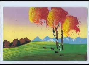 Y3767/ Handgemalt Landschaft AK